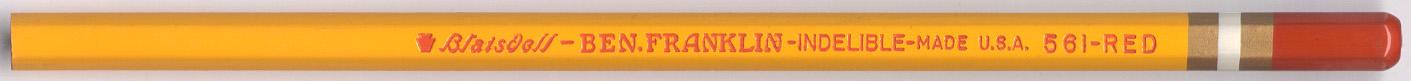 Ben Franklin Indelible 561 Red
