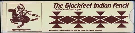 Blackfeet Indian Pencil 2
