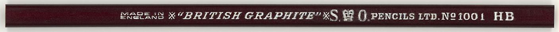 """British Graphite"" No. 1001 HB"