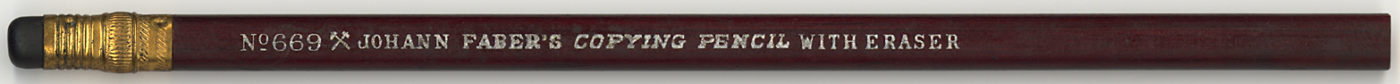 Copying Pencil With Eraser No. 669