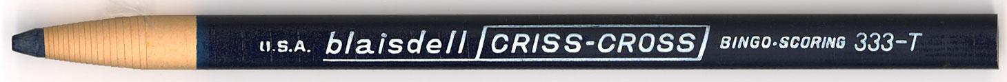 Criss-Cross Bingo Scoring 333-T