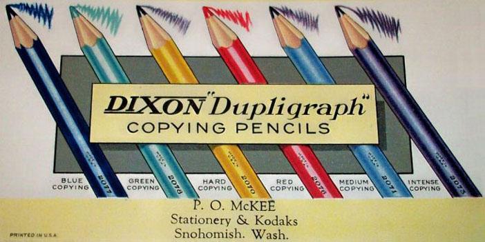 Dupligraph Copying  Pencils