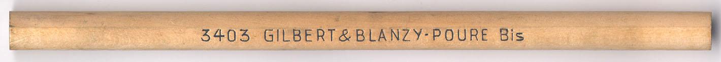 Gilbert & Blanzy-Poure Bis  3403
