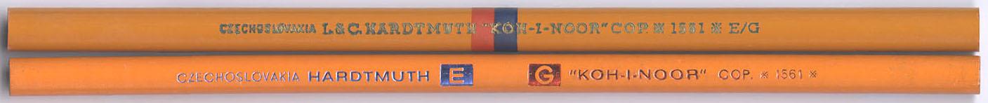 """Koh-I-Noor Cop. 1561 E/G"
