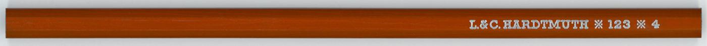 L & C Hardtmuth 123 No.4