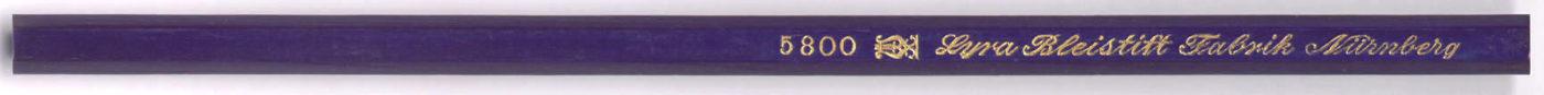 Lyra Bleistift Fabrik Nurnberg 5800