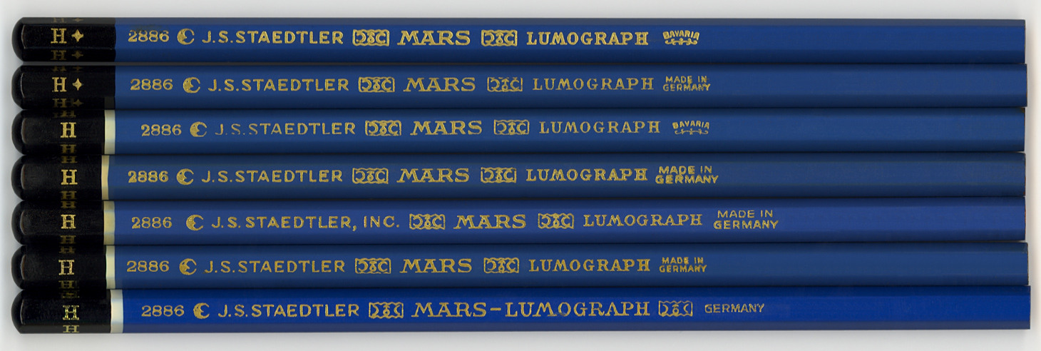 Mars  Lumograph 2886 H