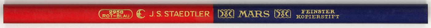 Mars Kopierstift 2958 Rot-Blau