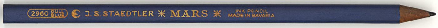 Mars Ink Pencil 2960 Dull Blue