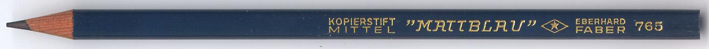 """""""Mattblau"""" Kopierstift 765"""