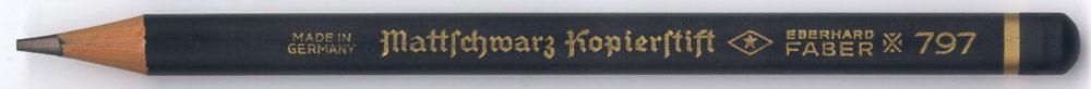 Mattschwarz Kopierstift 797