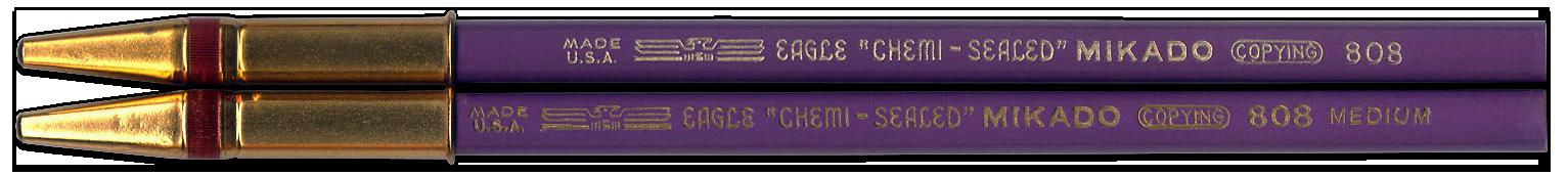 Two purple Mikado copying pencils by Eagle