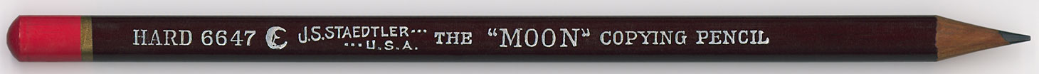 """The """"Moon"""" Copying Pencil 6647 H"""