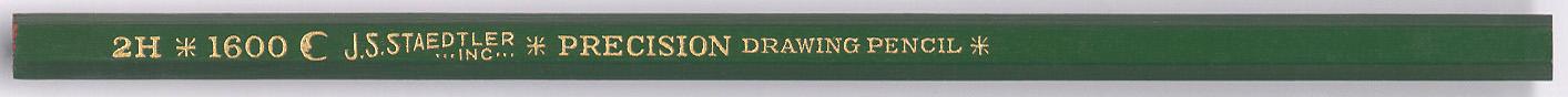 Precision Drawing Pencil 1600 2H