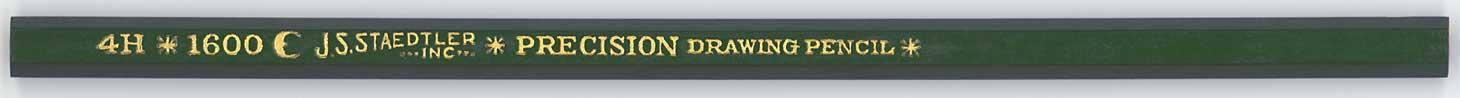 Precision Drawing Pencil 1600 4H