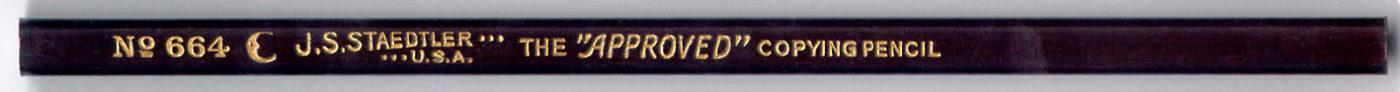 "The ""Approved"" Copying Pencil 664"