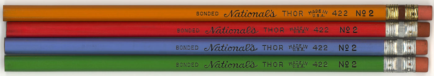 Thor 422 No2 colors of vintage pencils