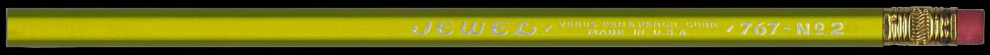 Jewel 767 Yellow vintage pencil