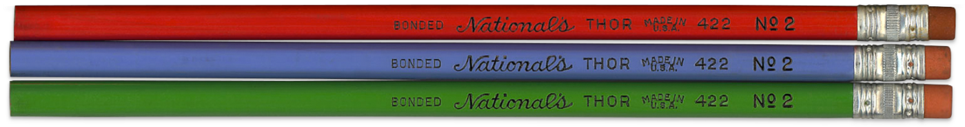 Three colors of Thor by National Pencil Co.