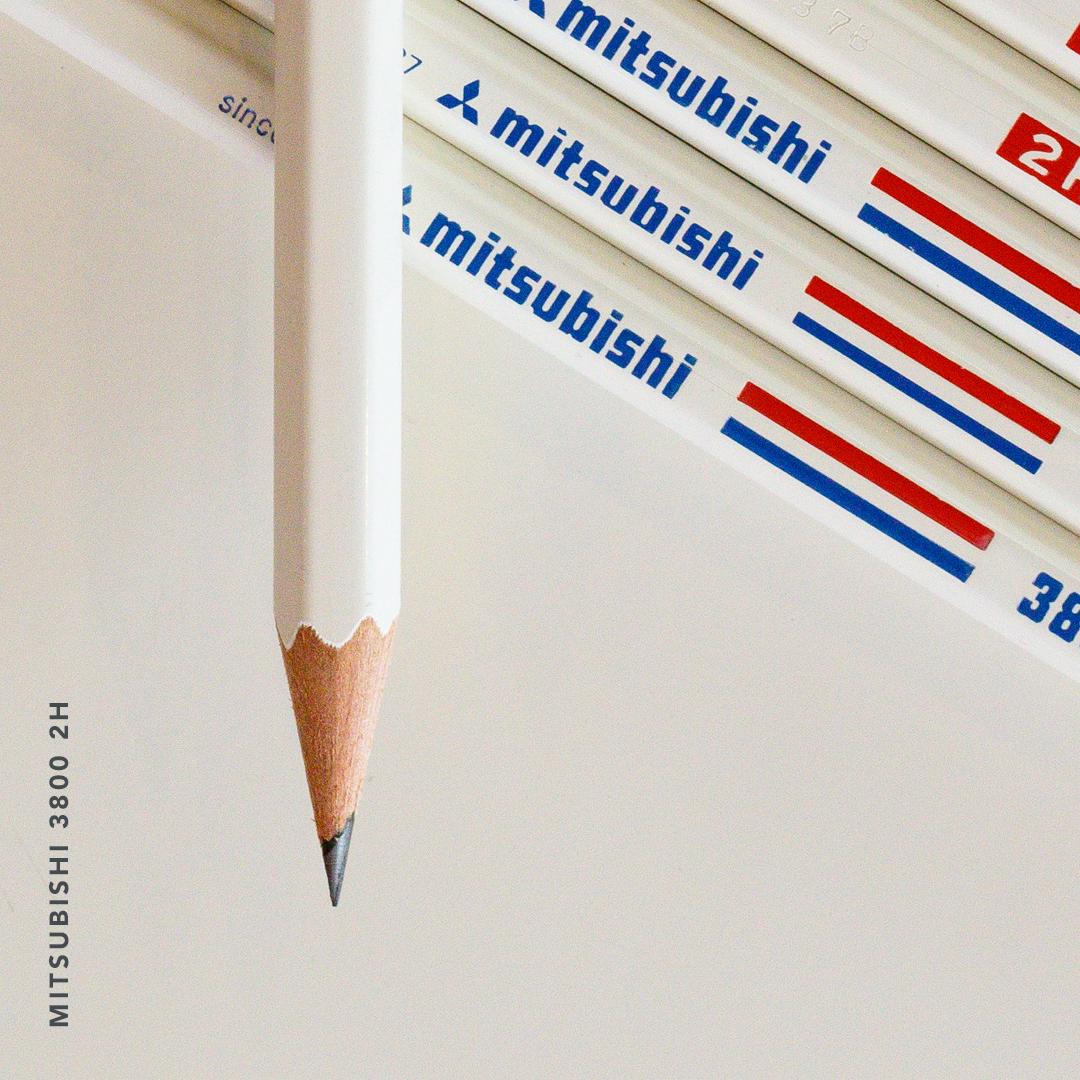 Mitsubishi 3800 2H pencil detail 1