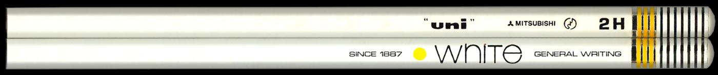 Uni White pencil