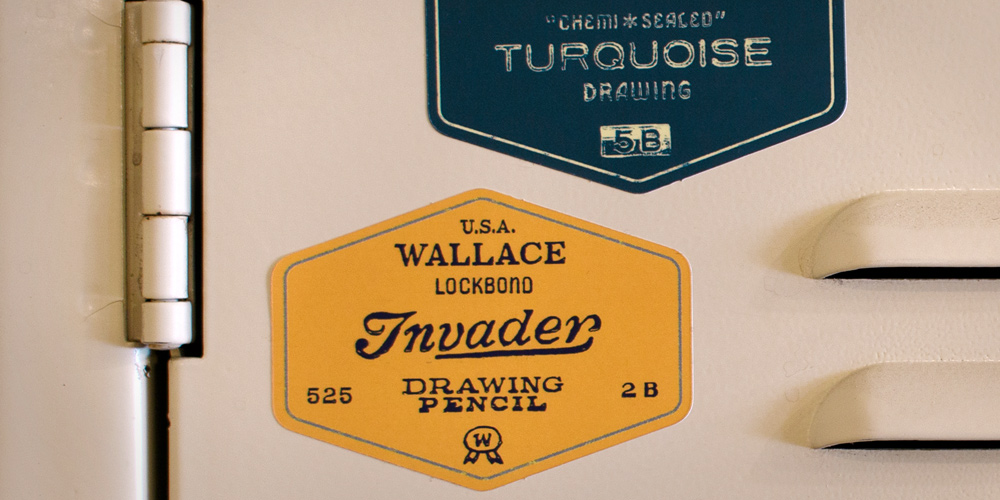 Vintage Pencil Stickers