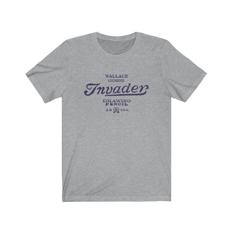 Wallace Invader retro pencil T-shirt