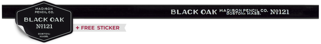 Black Oak Vintage Pencil