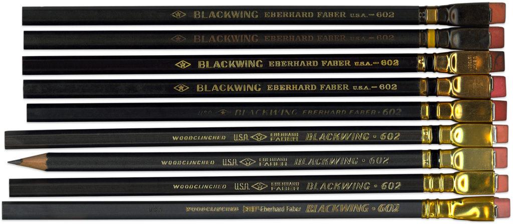 Nine Blackwing 602 Pencils