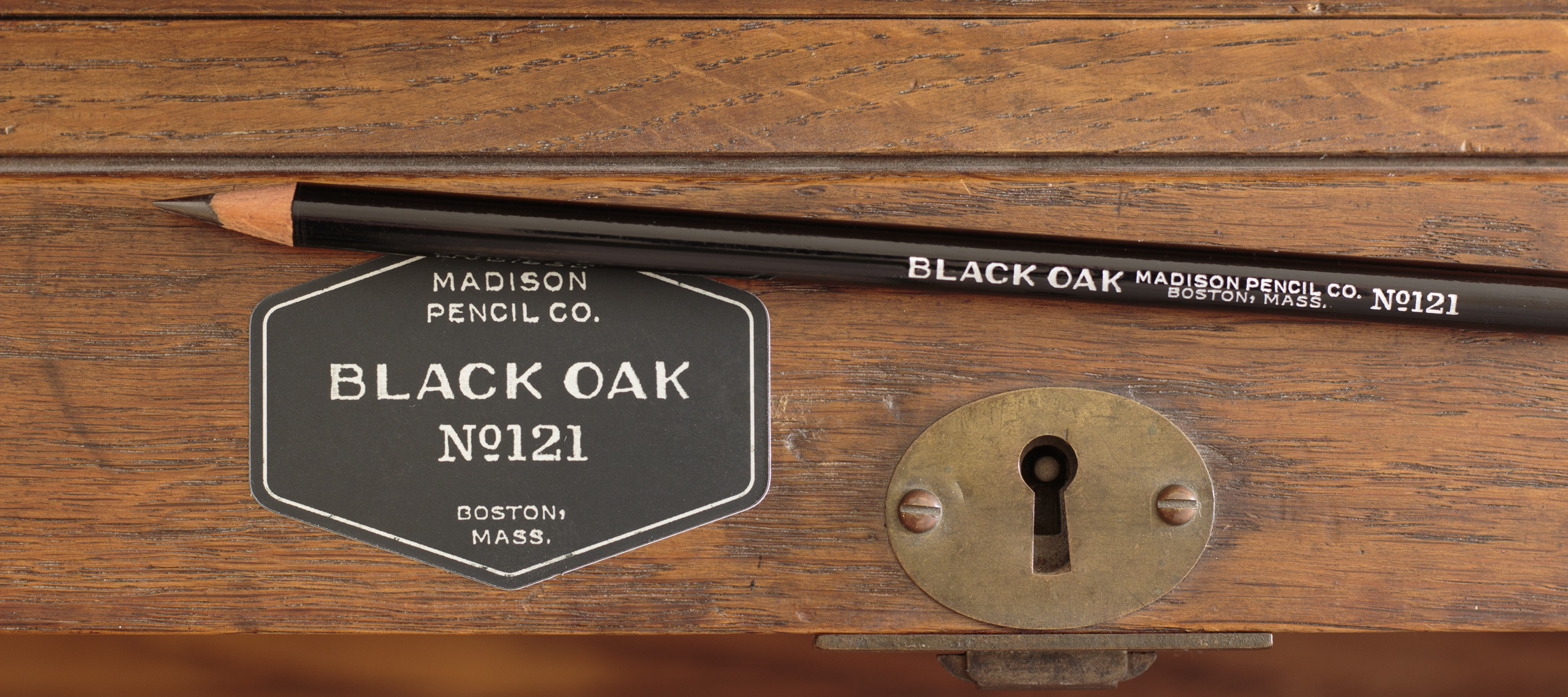 Black Oak Pencil with Sticker