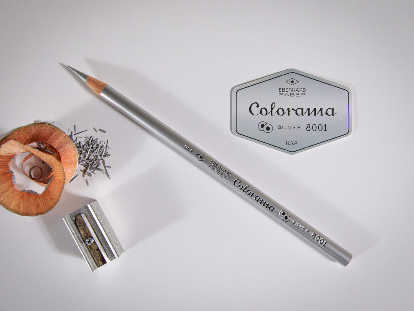 Eberhard Faber Colorama Silver vintage colored pencil