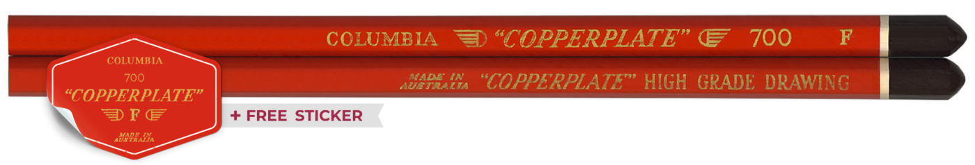 Copperplate Australian Vintage Pencil Red