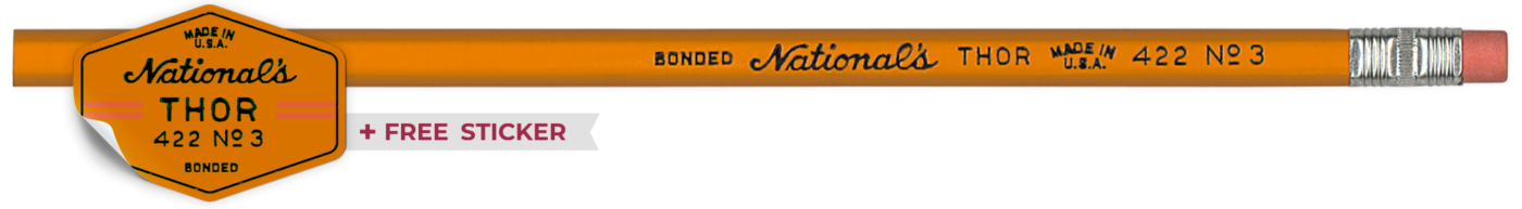 Thor 422 vintage pencil by National Pencil Co,